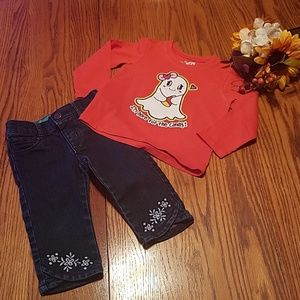 Halloween shirt and Gymboree jeans